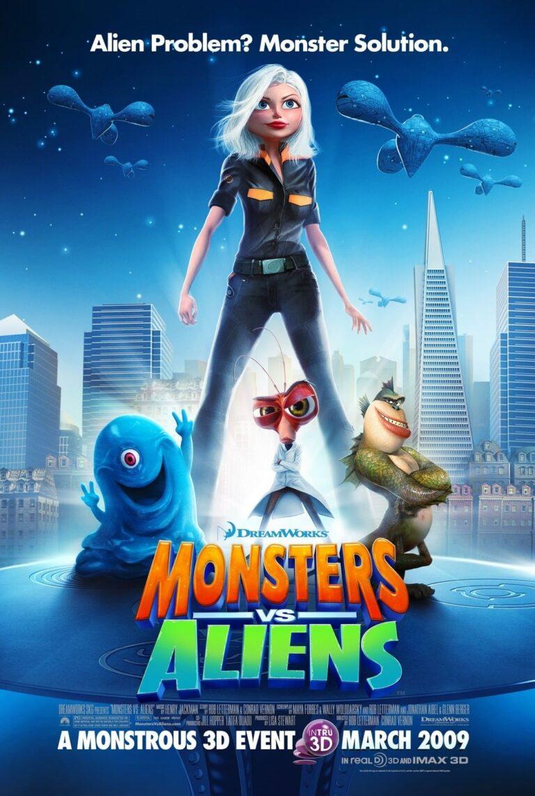"Poster for the movie ""Monsters vs Aliens"""