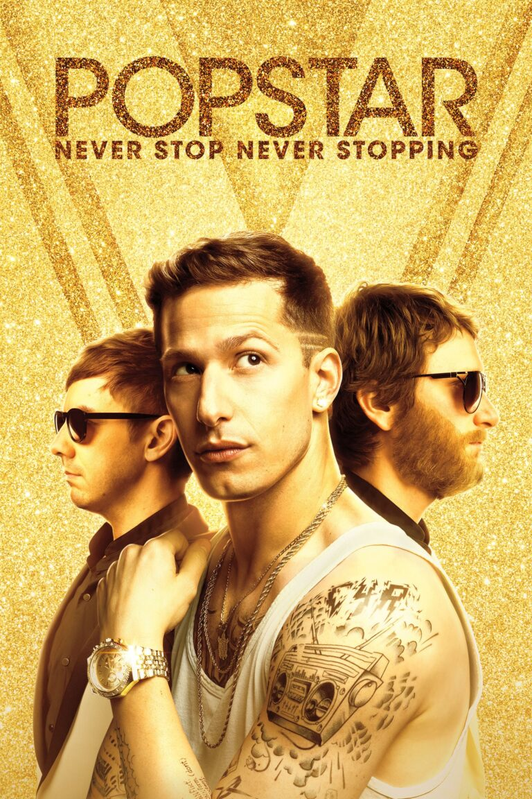 """Poster for the movie """"Popstar: Never Stop Never Stopping"""""""