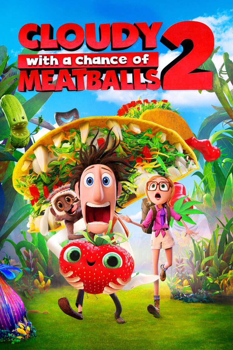 """Poster for the movie """"Cloudy with a Chance of Meatballs 2"""""""
