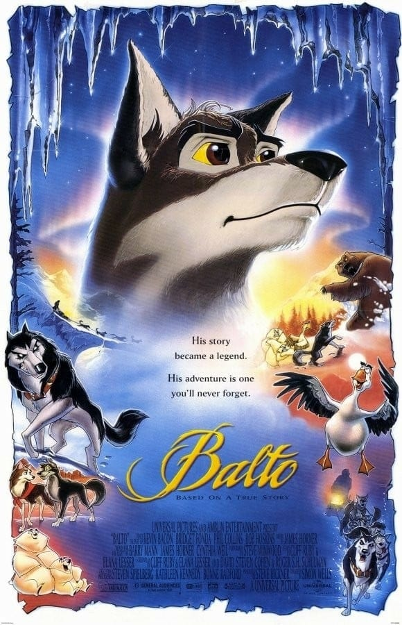 """Poster for the movie """"Balto"""""""