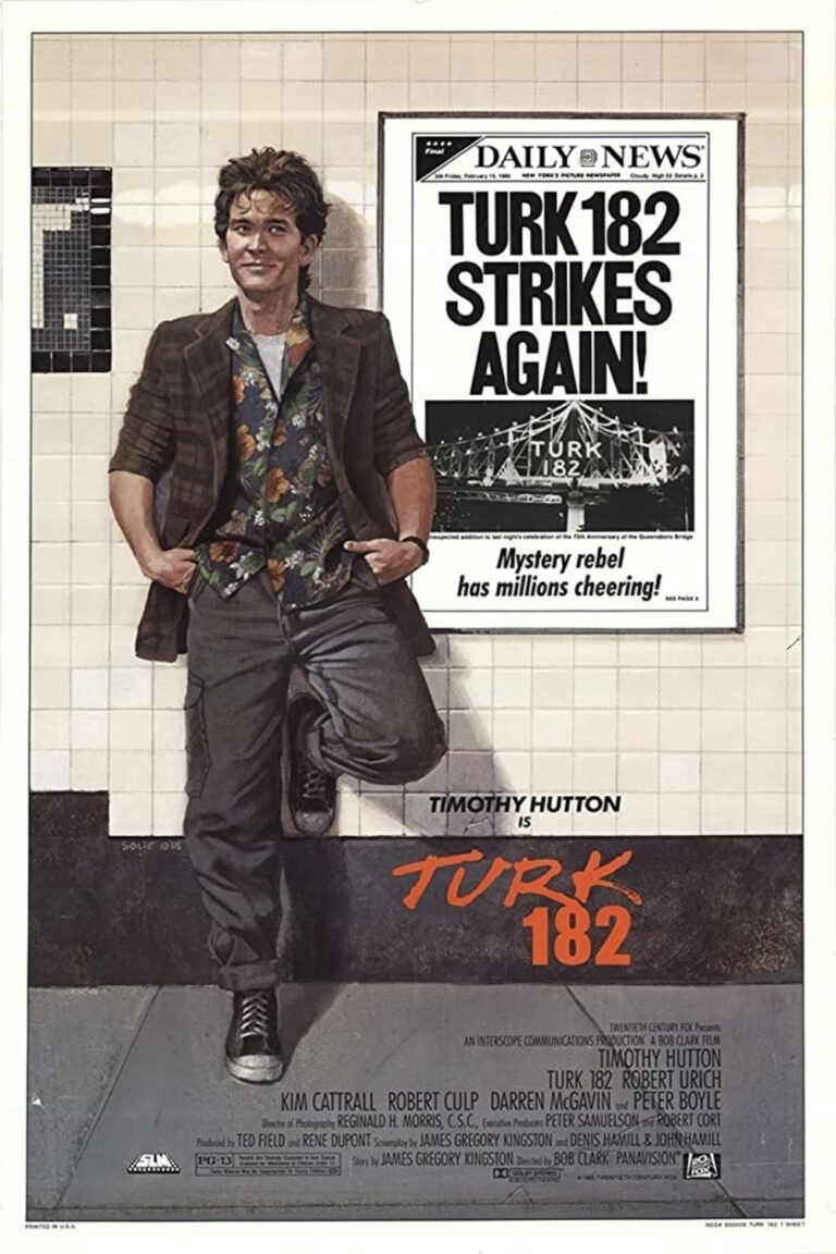 """Poster for the movie """"Turk 182!"""""""