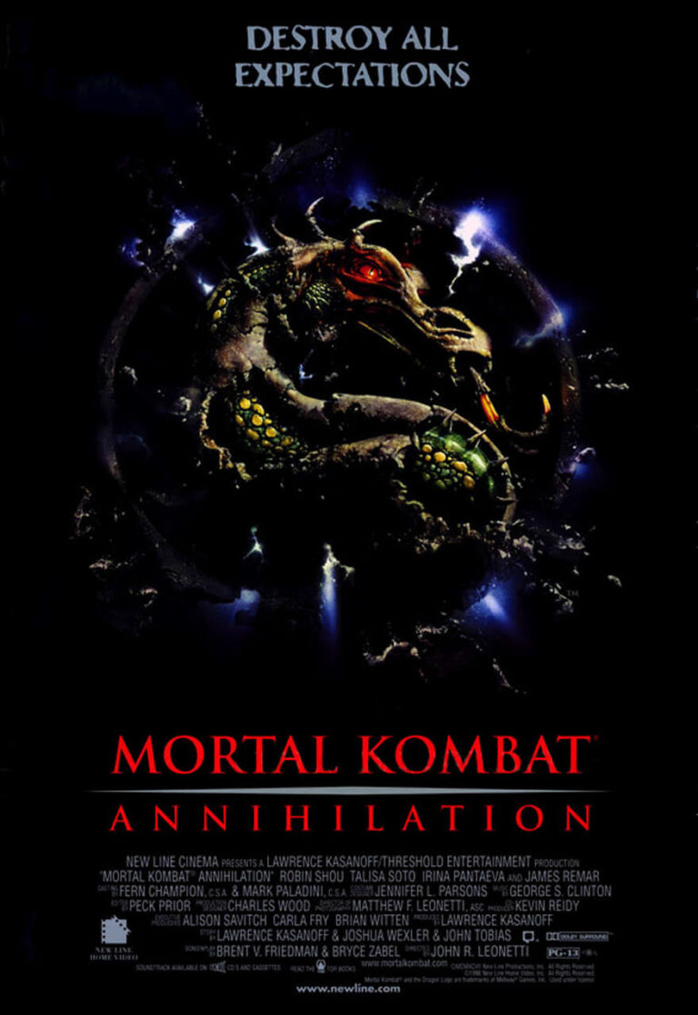 "Poster for the movie ""Mortal Kombat: Annihilation"""