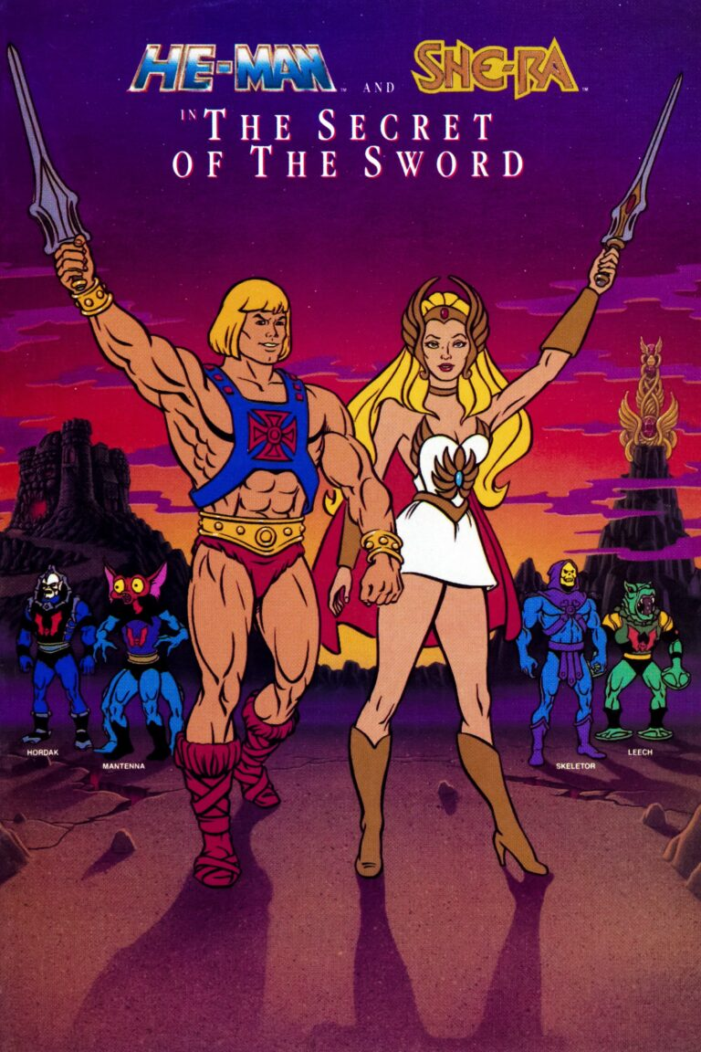 "Poster for the movie ""He-Man and She-Ra: The Secret of the Sword"""