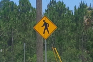 Yield/Crossing Sign