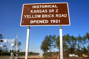 Historical Road Highway Sign