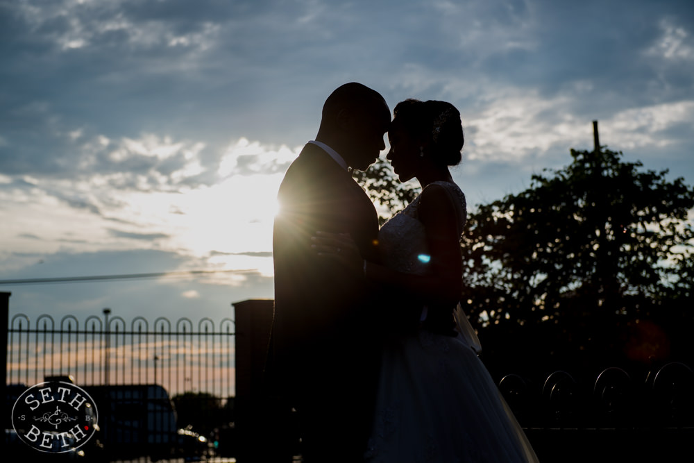 Bride and Groom at the Athletic Club Columbus Wedding