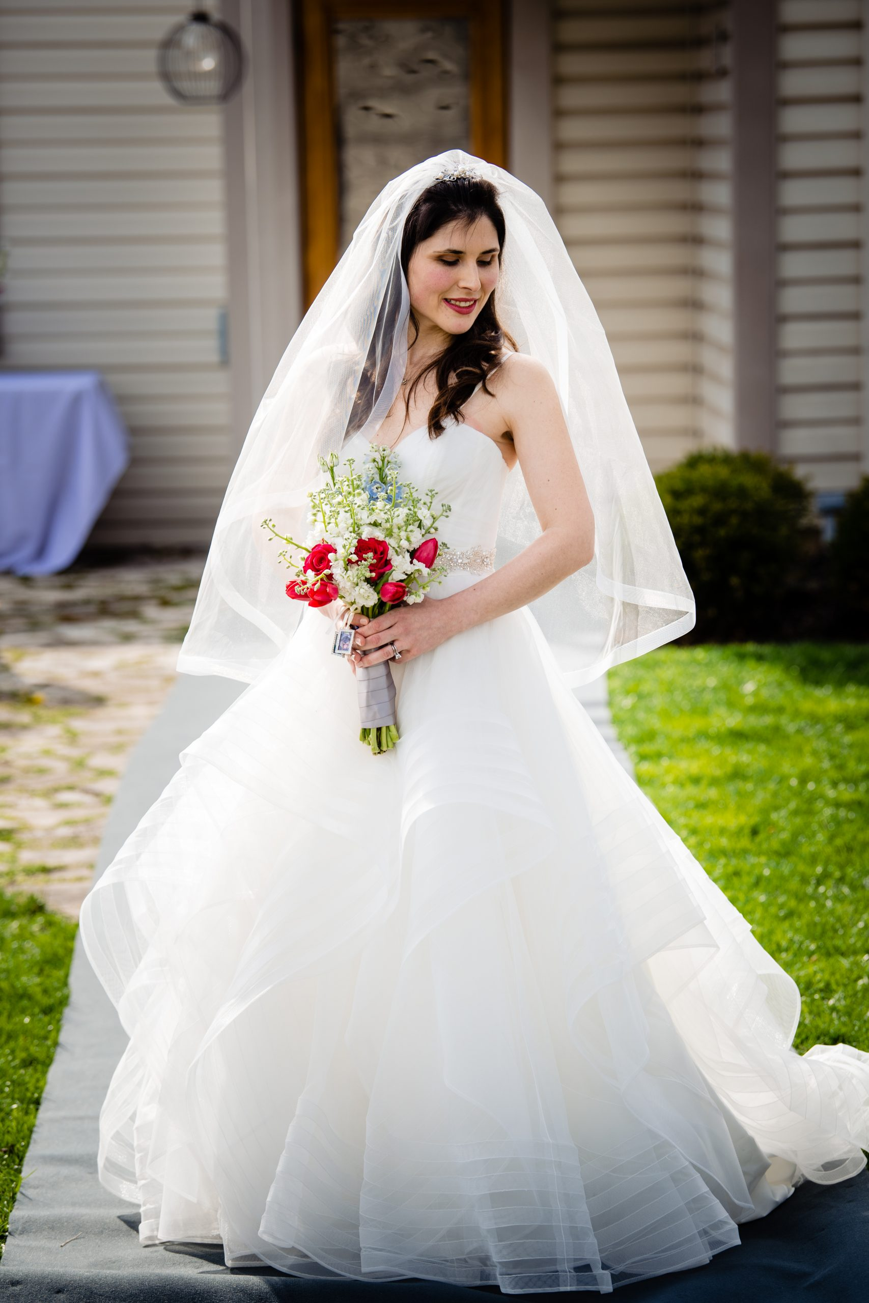 A bridal portrait during a COVID ceremony in Columbus, Ohio