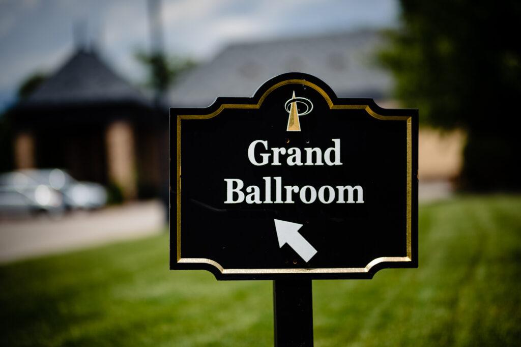 grand ballroom at Grove City Wedding Venue