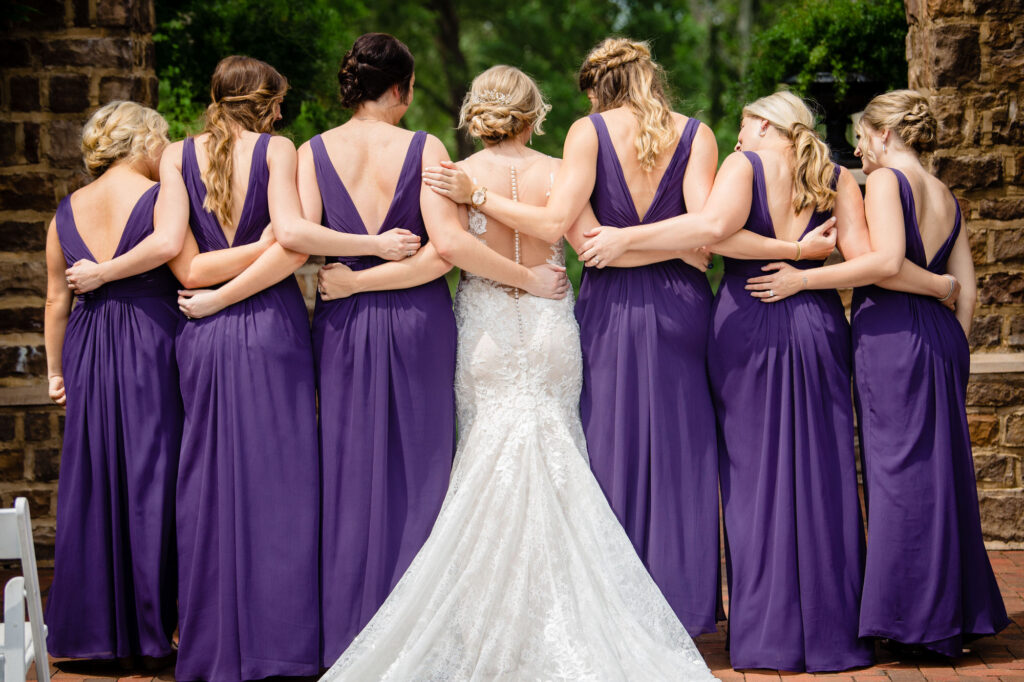 bridesmaids at Grove City Wedding Venue