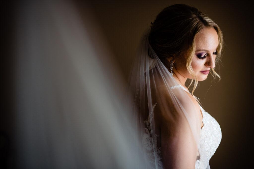 bride at Grove City Wedding Venue
