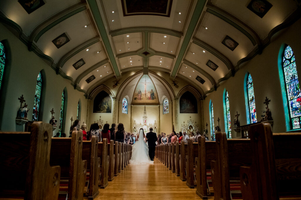 ceremony at Summer Westin Wedding Columbus