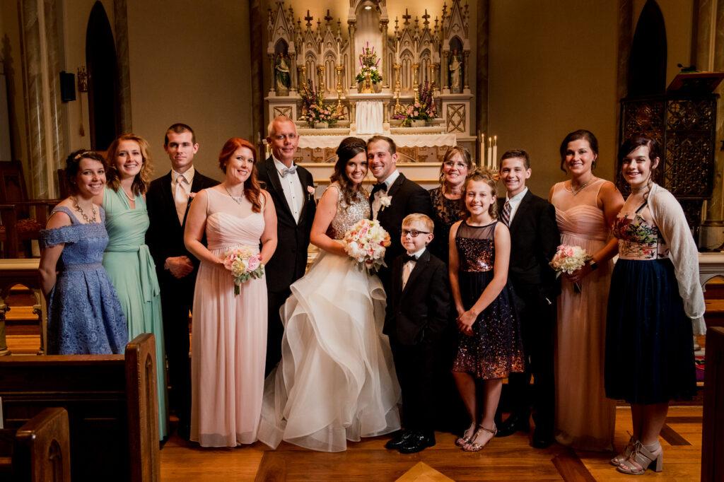 family at Summer Westin Wedding Columbus