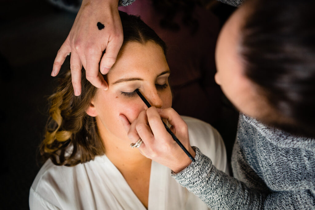 makeup at Columbus Art Museum Wedding