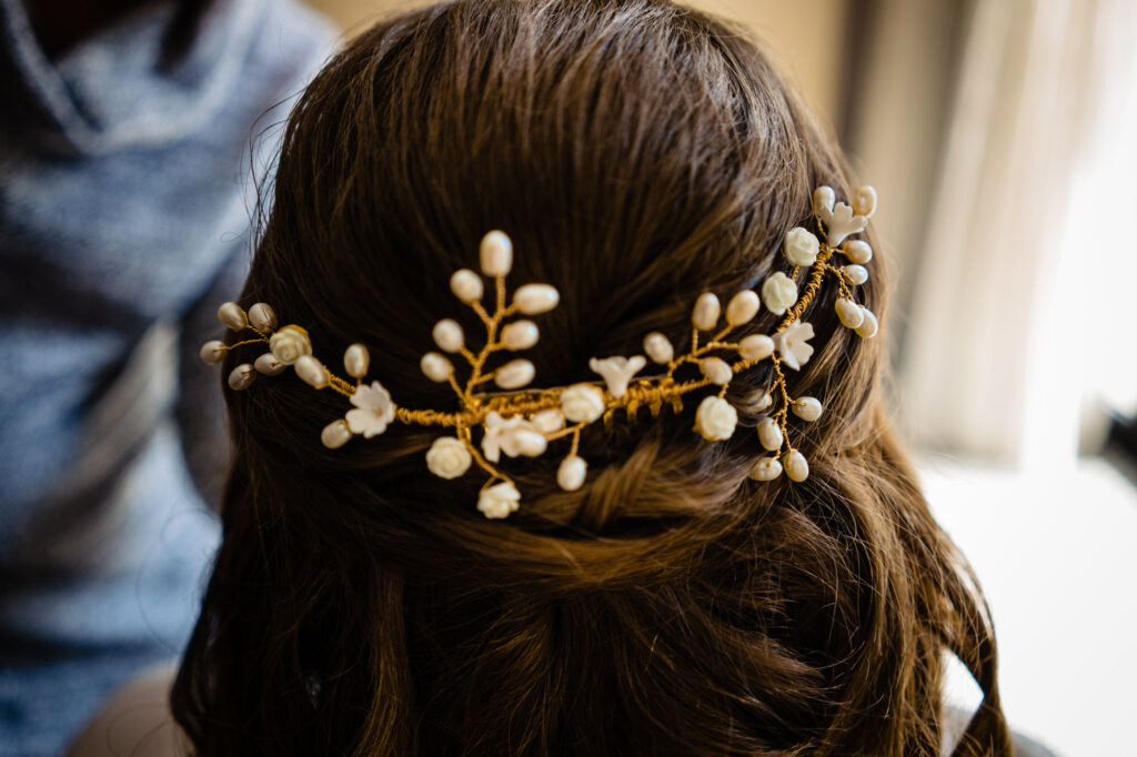 hair at Columbus Art Museum Wedding