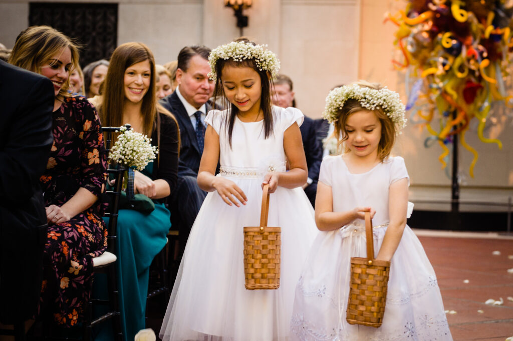 flower girls at Columbus Art Museum Wedding