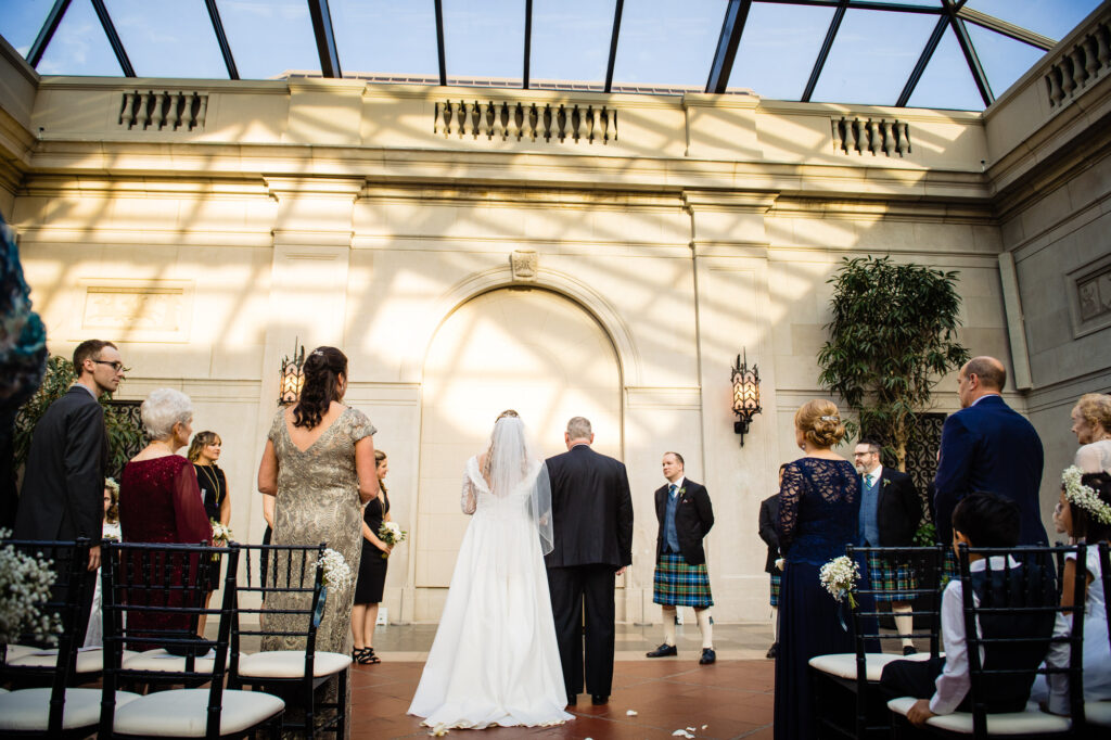 ceremony at Columbus Art Museum Wedding