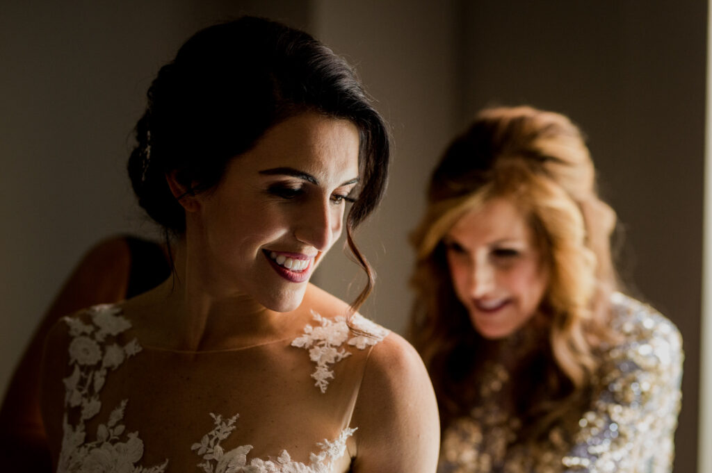 smiling bride at Columbus Ohio Westin Wedding