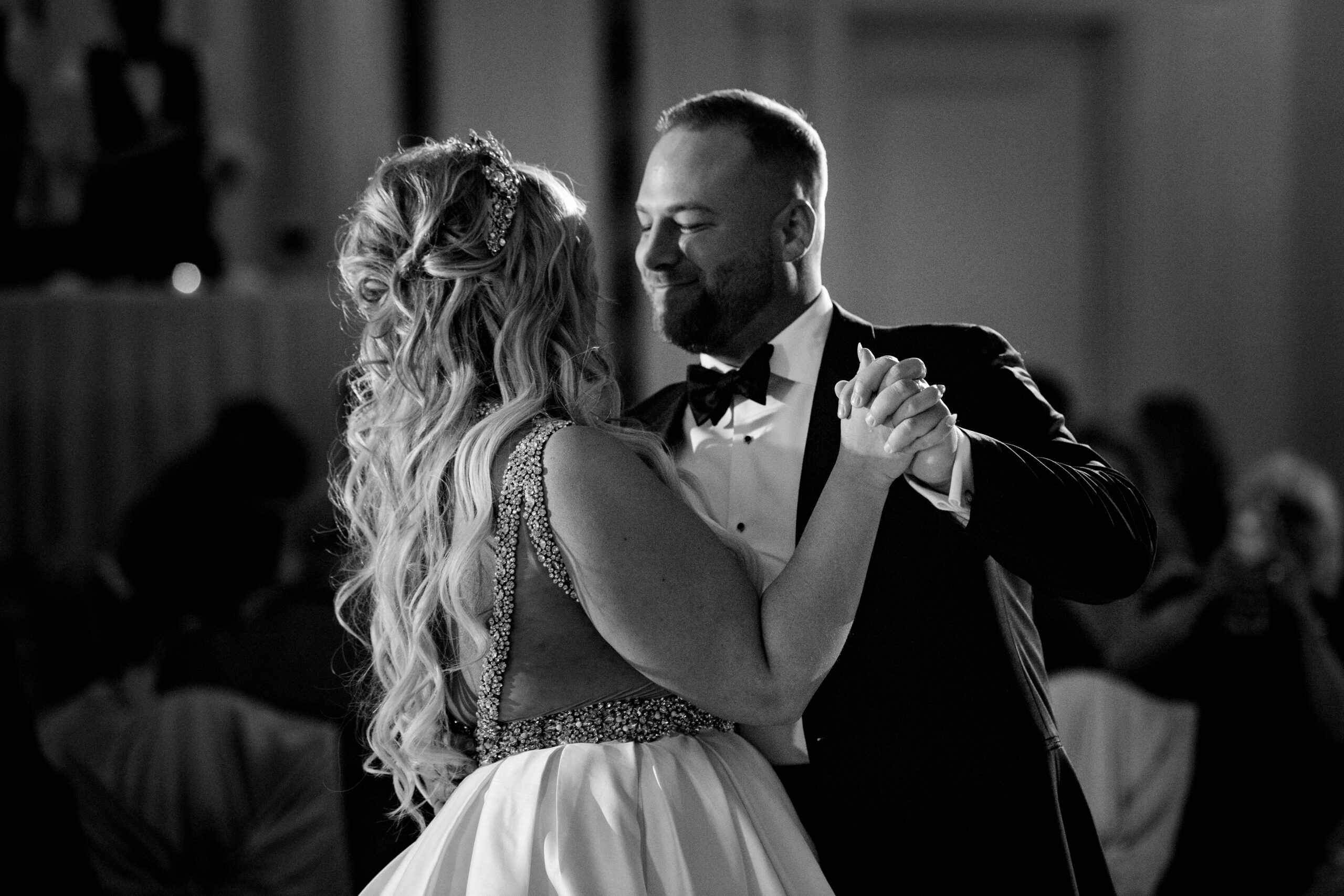 black and white portrait taken by Seth and Beth Wedding Photography