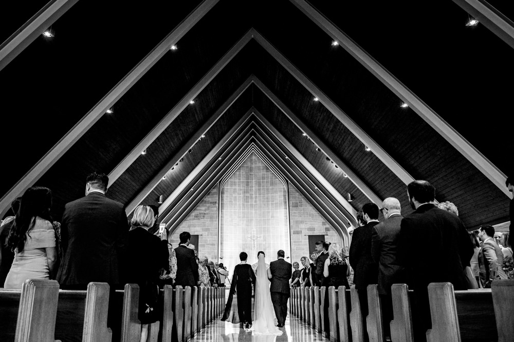 black and white portrait taken in downtown columbus by seth and Beth wedding photography