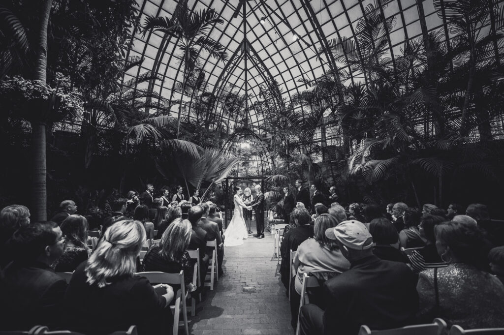ceremony at Franklin Park Conservatory Wedding