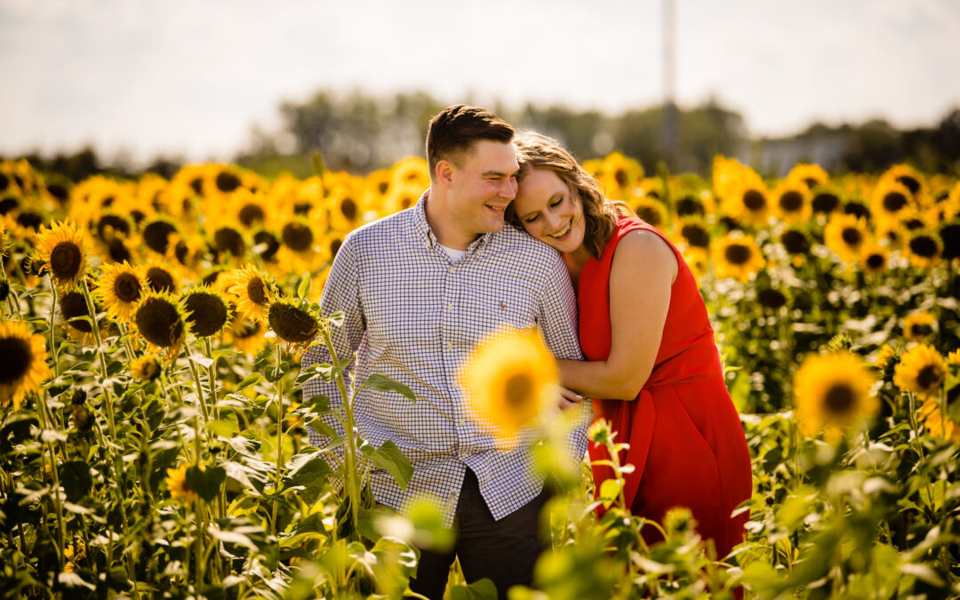 Columbus OH Sunflower Engagement