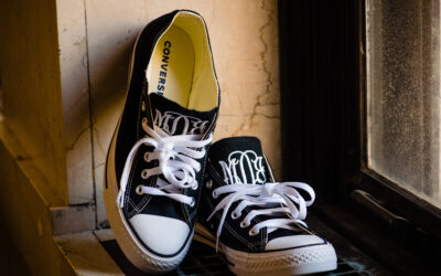 Monogrammed Converse Wedding Shoes