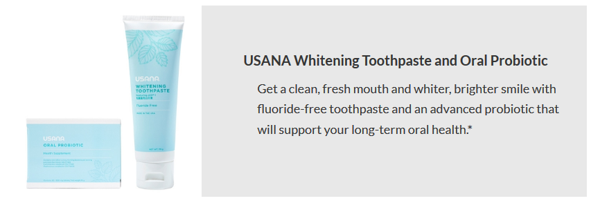 USANA Whitening Toothpaste and Oral Probiotic