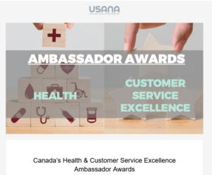 USANA Canada Ambassador Awards