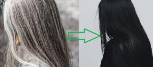 Grey Hair to Black Hair