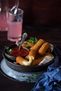 Eggless Mozzarella Sticks