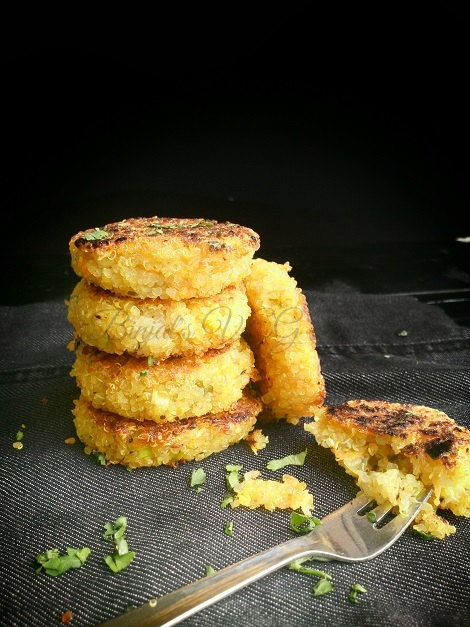 Quinoa Patties Photography