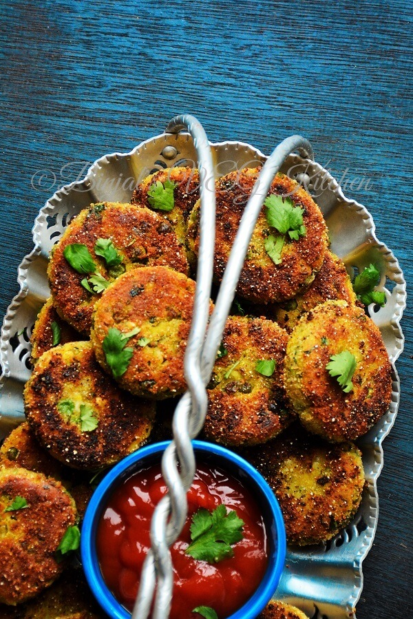 Sprouted Moong Cutlet