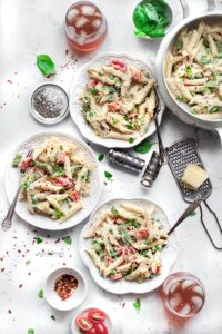 Vegetable White Sauce Pasta