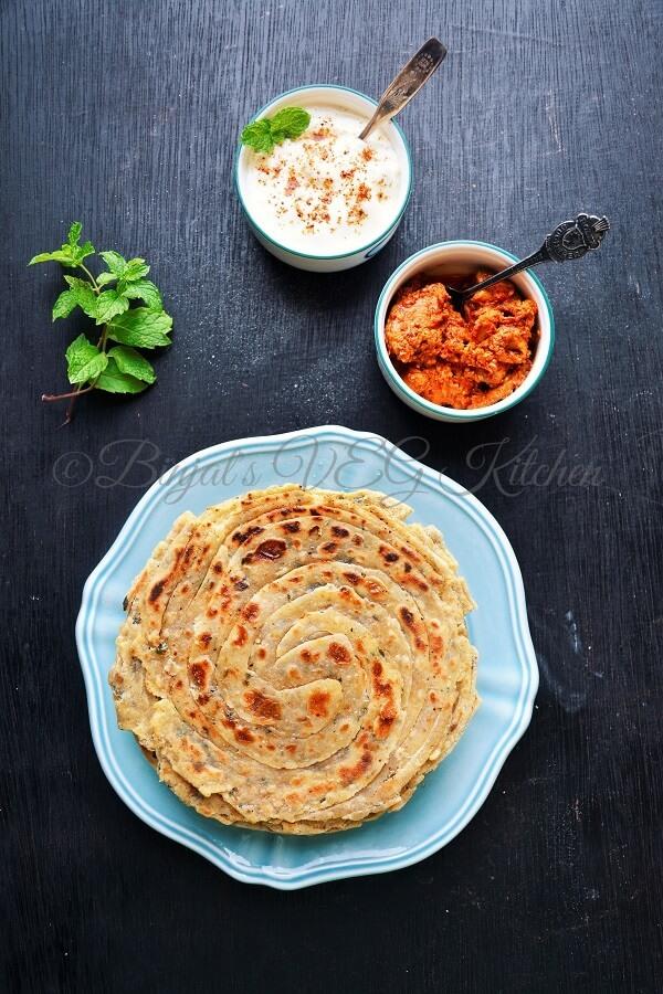 Pudina Lachha Paratha