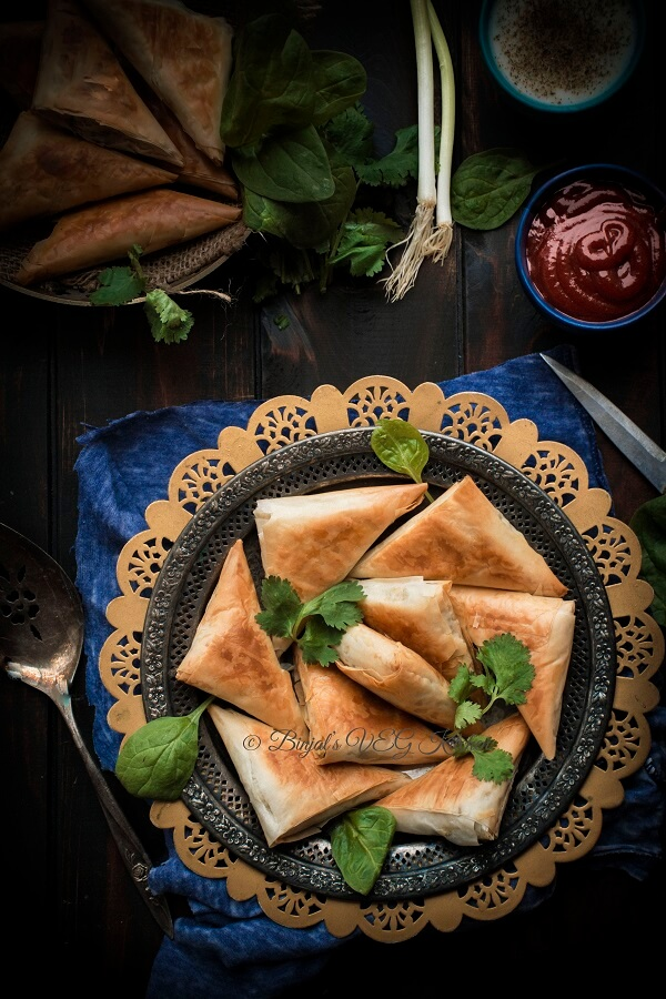 Spanakopita Triangles Photography