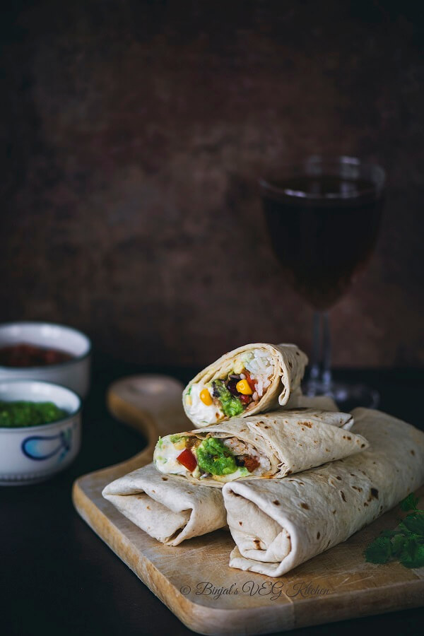 Vegetarian Burrito Photography
