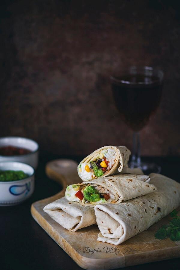 Vegetarian Burrito Photography