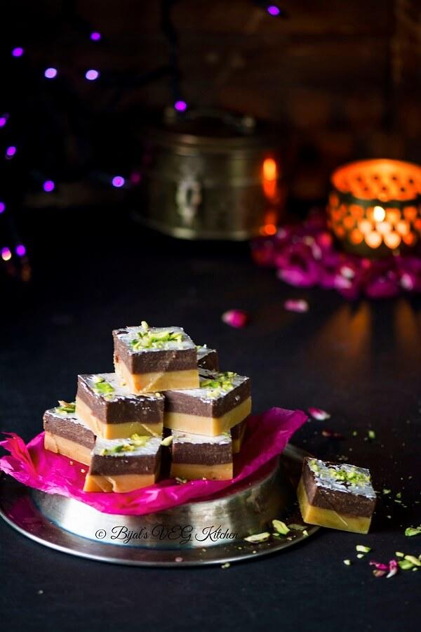 Chocolate Burfi Photography
