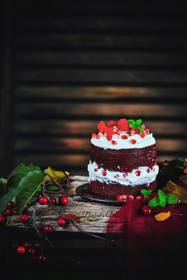 Red Velvet Cake Photography