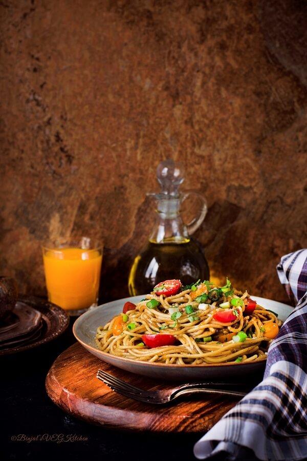 Quick One Pot Spaghetti Photography