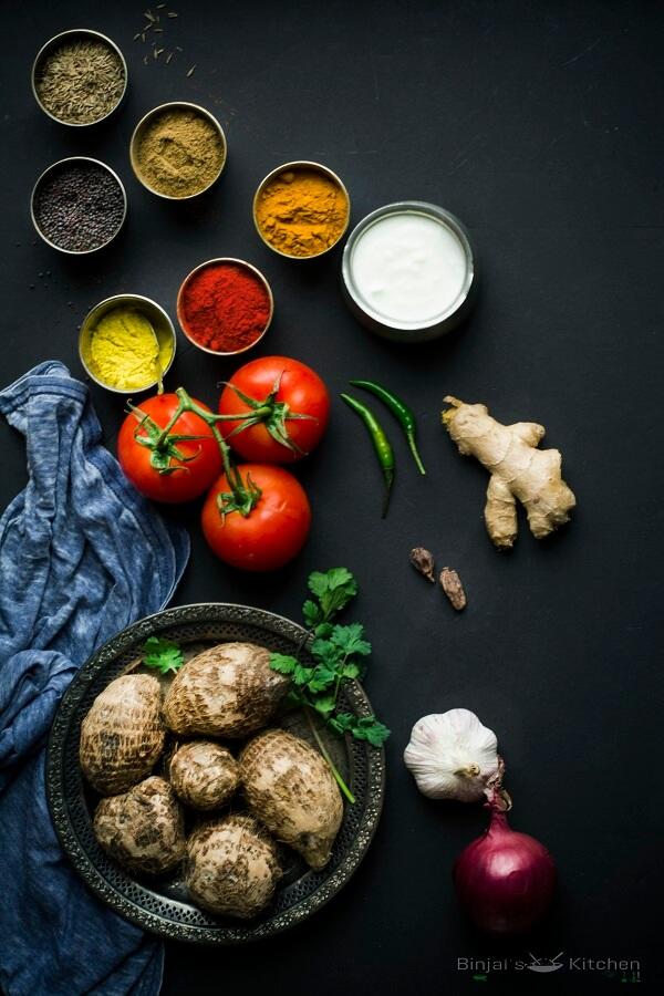 Dum Arbi Colocasia Curry Photography