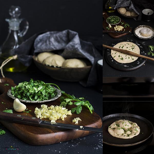 No Yeast Whole Wheat Garlic Naan M2
