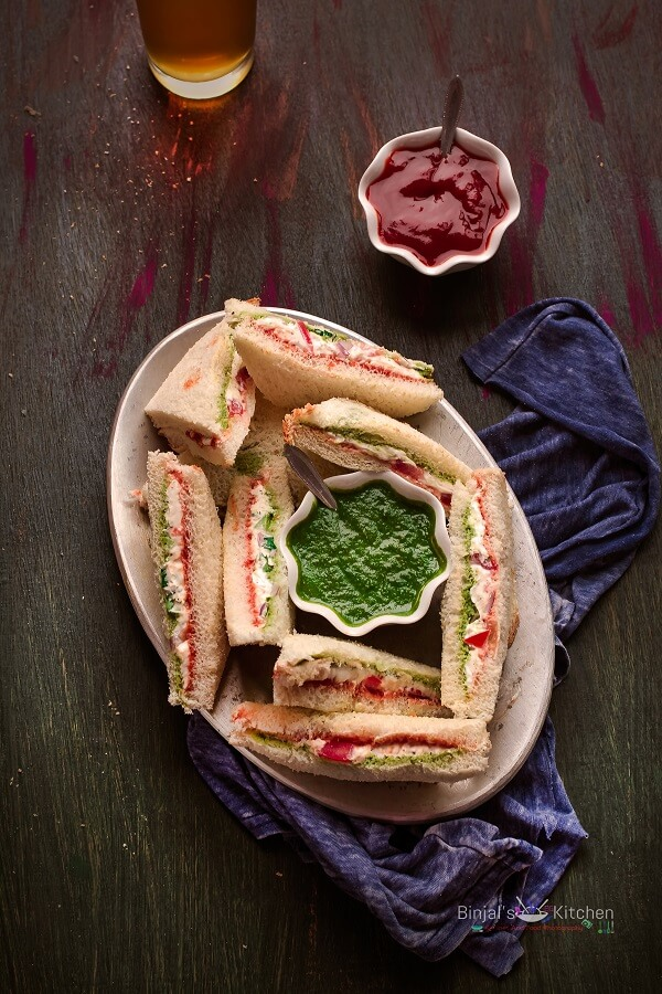 Cream Cheese Sandwich Photography