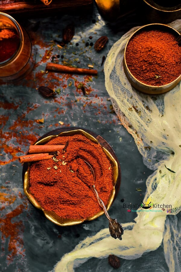 Homemade Tandoori Masala Photography