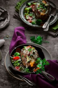 Veggie Stuffed Potatoes Recipe (Baked)