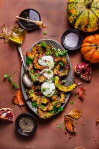 Roasted Pumpkin with Pesto & Burrata