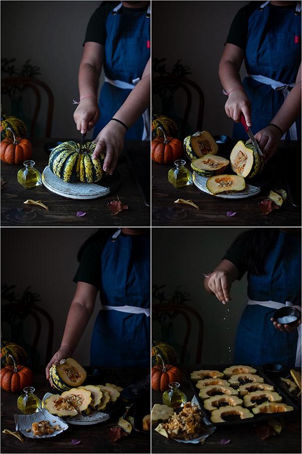 Roasted Pumpkin With Pesto & Burrata