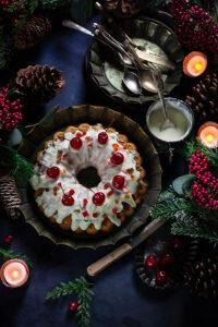 Brown Sugar Vanilla Bundt Cake with Cream Cheese Glaze