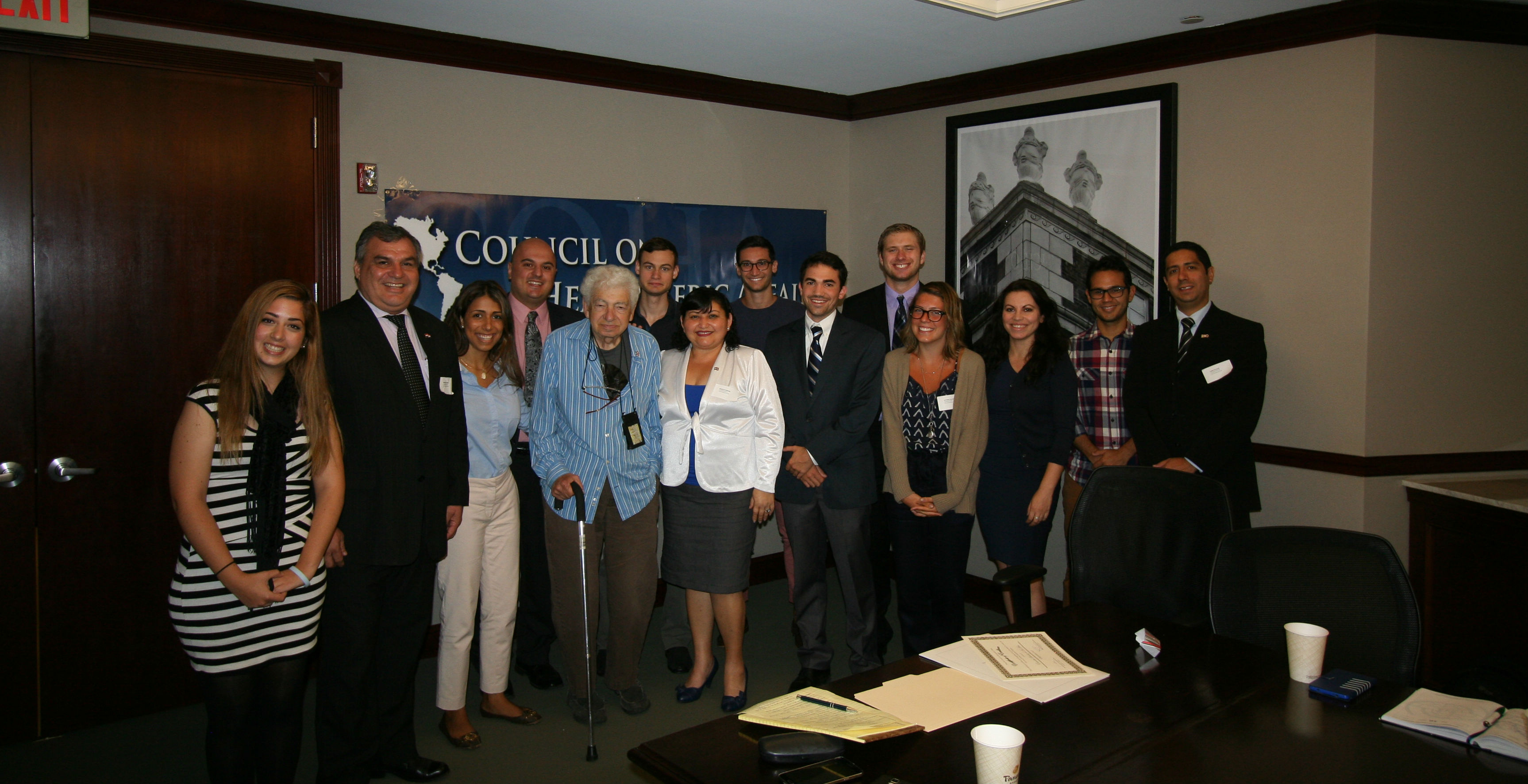 Part of our Fall 2015 staff with Esmerita Sanchez and members of the Paraguayan congress