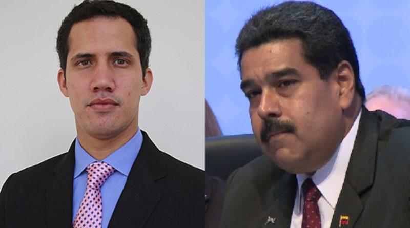 Juan Guaido and Nicholás Maduro.